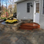 Millcreek Landscape Design backyard patio and staircase