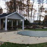 Millcreek Landscape Design hardscapes and landscaping around a inground pool