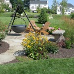 Millcreek Landscaping Design backyard hardscape and landscape planting design