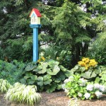 Millcreek Landscape Design planting service for around a bird feeder