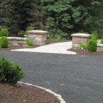 Millcreek Landscape Design stone pathway and driveway landscaping