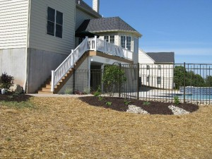 Millcreek Landscape Design backyard pool landscaping and hardscapes