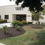 front of 1501 building with landscaping