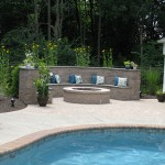 Millcreek Landscape Design swimming pool large rocks and planting