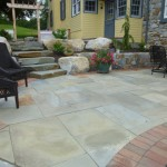 stone paver tiled patio