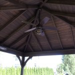 ceiling fan hanging from outdoor patio roof