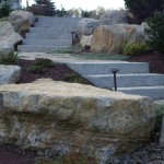 boulders & stove paver stairway
