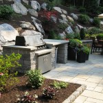 Millcreek Landscape Design stone patio with grill