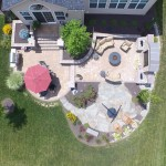 arial view of the backyard