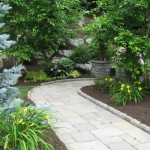 Millcreek Landscaping Design backyard hardscape patio design and walkway to backyard